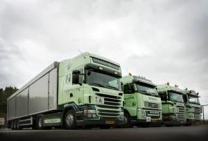 Deze containerwagen behoort tot onze logistieke service