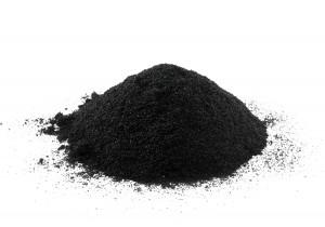Rubberpoeder geschikt voor vermenging met andere grondstoffen tot een rubbermengsel.